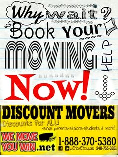 Book your next move NOW! 18883705380