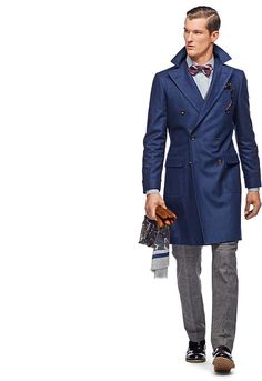 #Suitsupply Navy Double-breasted Overcoat - $569