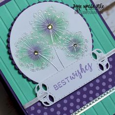 Hello everyone! I wanted to share the projects I made on my Facebook Live video earlier today. I used the new Dandelion Wishes stamp set 3...