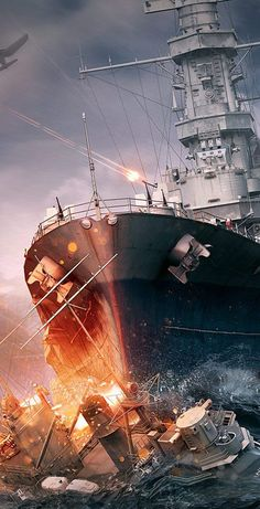 Games Wallpapers HD and Widescreen World Of Warships Wallpaper, Tank Wallpaper, Wallpaper Wallpapers, Us Battleships, Military Drawings, Us Navy Ships, War Photography, World Of Tanks, Military Art