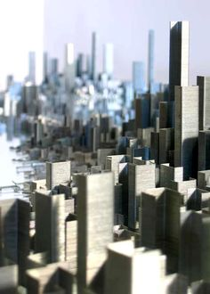 Peter Root, Ephemicropolis    A miniature city composed of 100,000+ office staples