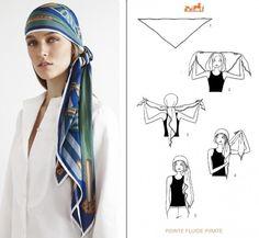 2e594541ed2a Lady Gennaio  Un foulard tra i capelli Nodi Sciarpa, Avvolgere Capelli Con  Sciarpa,