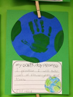 Earth Day activity - bulletin board  (credit to Mrs. Carroll @ First Grade Parade)