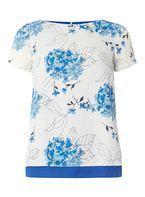 Womens **Billie & Blossom Blue Floral Blouse- Blue