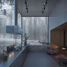 Dream Home Design, Modern House Design, Modern Interior Design, My Dream Home, Style At Home, House Rooms, Interior Architecture, Ancient Architecture, Sustainable Architecture