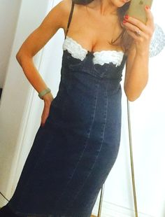 Moda International Denim Corset Dress