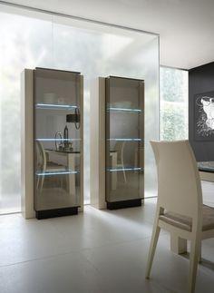 Rossetto Diamond Ivory Curio 1 door (left)