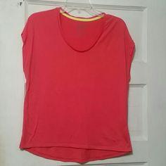 Nike dri fit short sleeve shirt Pink DRI fit Nike shirr. Worn 2times. Says Nike across the front. Nike Tops Tees - Short Sleeve