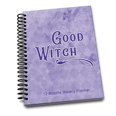 Good Witch | Perpetual Weekly Planner | 2 pages a week | Passwords | Contacts | Notes | Annual Goals Notebooks, Journals, Weekly Planner, Witch, Notes, Handmade Gifts, Etsy, Kid Craft Gifts, Report Cards