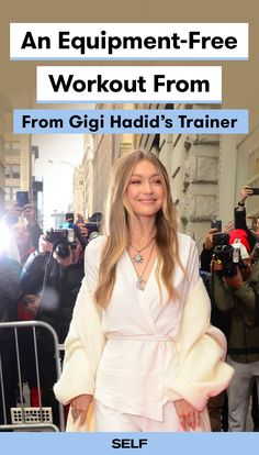 If anyone knows a thing or two about being on the move, it's Gigi Hadid. When the model travels she relies on equipment-free workouts to stay on track with her goals. This routine, made by her trainer Rob Piela, is an example of a workout that Hadid could do on the road in her hotel room. The best part? There's absolutely no equipment required. Snag yourself a little space to get sweaty, and get to work.