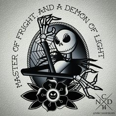 Jack Skellington Tattoo Design