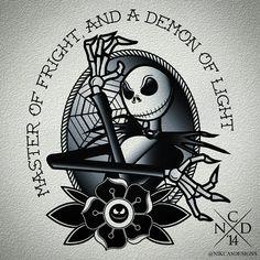 nikcasdesigns:  Jack Skellington Tattoo Design