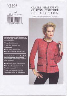 Vogue 8804 Claire Shaeffer Jacket