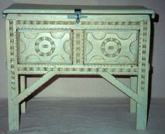 spanish colonial furniture - Google Search Colonial Furniture, Western Furniture, Painted Furniture, Reproduction Furniture, Spanish Colonial, Bookshelves, Entryway Tables, Cabinets, Boxes