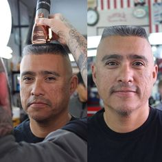 Flattop -- This haircut is on the level, man! Best Hairstyles For Older Men, Haircuts For Men, Haircut Men, Men's Haircuts, High And Tight Haircut, Flat Top Haircut, Hair Growth For Men, Hair Growth Tips, Bald Head Man