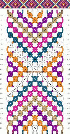 Normal Friendship Bracelet Pattern # 2146 This really looks easy! - # Normal Friendship Bracelet Pattern # 2146 This really looks easy! Bracelet Fil, Bracelet Crafts, Bracelet Making, Thread Bracelets, Macrame Bracelets, Handmade Bracelets, Embroidery Bracelets, Macrame Knots, Loom Bracelets