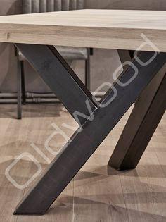 Tafel Eiken houten tafel - Sturdy Leg