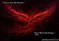 Phoenix rising from the fire <3