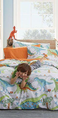 Dinosaur Roar Bedding #kids #rooms