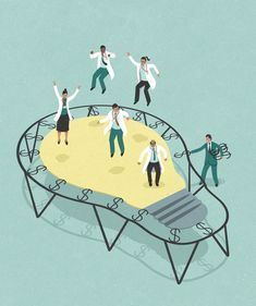 innovation and science funding cuts, conceptual illustration by John Holcroft. innovation and sc Art And Illustration, Business Illustration, Illustration Pictures, Satirical Illustrations, Isometric Design, Famous Artists, Vector Art, Satire, Illustrators