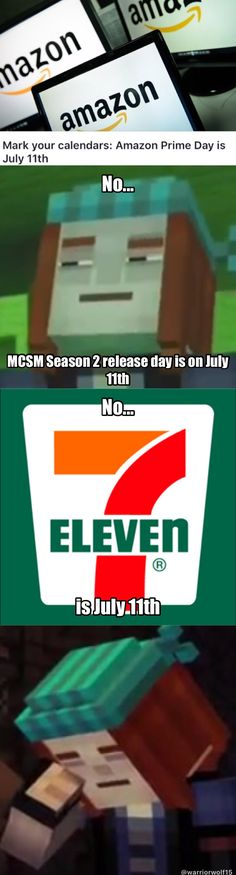 I thought the same thing when I figured out that Prime Day was the same day as the release date for MCSM season 2.