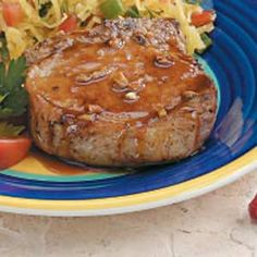 Cooking this now! I'll let you know how it turns out. :-) Honey-Garlic Pork Chops Recipe