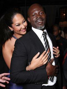 Djimon Hounsou and wife ~ Kimora Lee Simmons