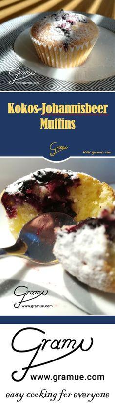 Kokos-Johannisbeer-Muffins  Ein schneller und einfacher, aber Dank der Zutaten doch recht raffinierter Muffin. Die schwarzen Johannisbeeren aus den Pinzgauer Bergen in Kombination mit dem Kokos ergibt daraus ein sehr frischer und fast schon exotisch-fruchtigen Geschmack.   #gramue #easycooking #easycookingforeveryone #einfach #cooking #kitchen #kochen #rezept #rezepte #köstlich #chef #Kuchen #Johannisbeeren #schwarzeJohannisbeeren #Muffins #Kuchen #Jause #Kokos #Früchte #leichteKüche Pinzgauer, Easy, Chef, Backen, Coconut Curry, Coconut Flakes