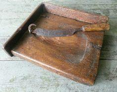 Primitive Antique Sugar Cutting Board and Knife
