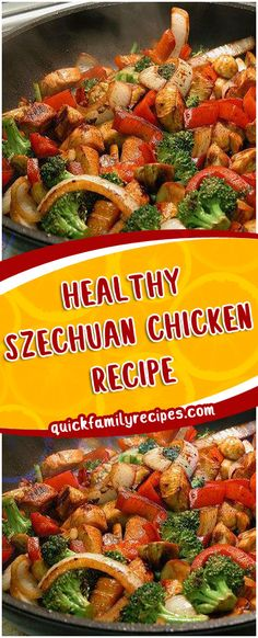 HEALTHY SZECHUAN CHICKEN RECIPE #healthy #szechuan #chicken #slowcookerrecipes #foodlover Szechuan Chicken