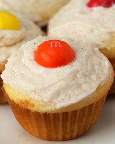 Caramel M&M'S Mini Poke Cupcakes