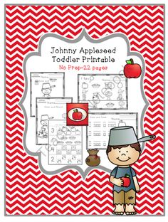 Johnny Appleseed Toddler Printable No Prep from Preschool Printables on TeachersNotebook.com -  (24 pages)  - Tracing-coloring and many more pre-school activities.