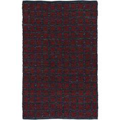 Chandra Rugs Art Red / Black Shag Runner Rug - ART3687-266