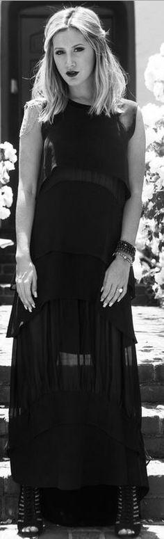Ashley Tisdale: Dress – Jonathon Simkhai  Shoes – Vince Camuto  Jewelry – Vanessa Mooney