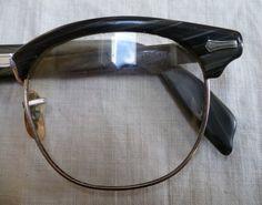 Vintage Shuron Browline 1950s Mens Eyeglass by PoplarStVintage, $90.00