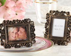 Ornate Victorian Gold Frame Place Card Holder Favors! New Vintage Inspired frames! affordableelegancebridal.com