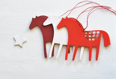 Wooden horse - Christmas ornaments