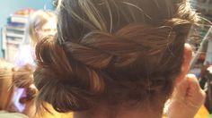 Pull through braided bun easy peasy  short hair styles