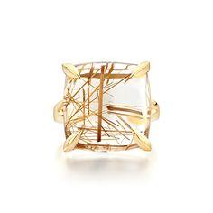 7e09a0c25 Ecksand Quartz Cocktail Ring Face Statement Ring - Fine Jewelry- Yellow Gold  - Quartz -