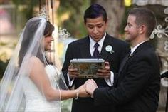 Wedding ceremony performed by our friend, read off iPad.