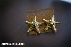 Golden Sea Star Sparklefish Earrings