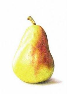 watercolor pear.. Brings me back to art class with @kathystansell