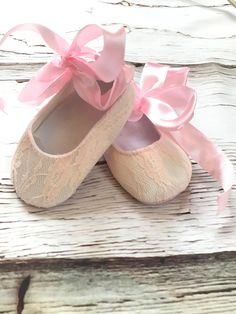 Baby Girl Shoes, Girls Shoes, Christening Shoes, Pink Lace, White Lace, Crib Shoes, Cute Outfits For Kids, Baby Time, Baby Sewing