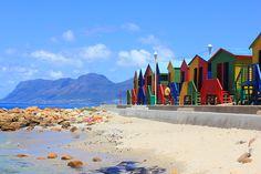 Bathhouses in Muzeinberg, Cape Town, South Africa - primeiro as damas!