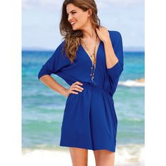 Victoria's Secret Knit Caftan Dress ($25) found on Polyvore