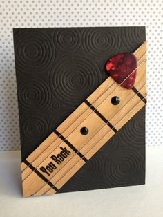 """You Rock"" guitar and guitar pick card"