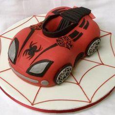 Spiderman Car Cake
