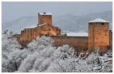 """The Ainsa Castle"" is an emblematic fortressed construction in Aragon, a region of Spain"