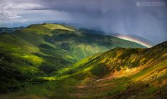 Over the rainbow - Rodnei Mountains - Romania Gold Water, Over The Rainbow, Horse Riding, Aerial View, Nature Photos, Romania, Rooftop, Rome, Paris