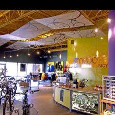 Bright retail space decor